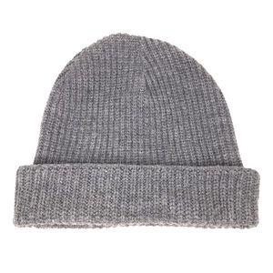 TopShop Men's Gray Knit Beanie Hat Cuffed Grey